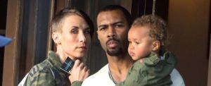 092314-celebs-out-omari-hardwick-wife-son