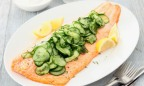 Great Recipe: Soy-Glazed Salmon with Cucumber Avocado Salad
