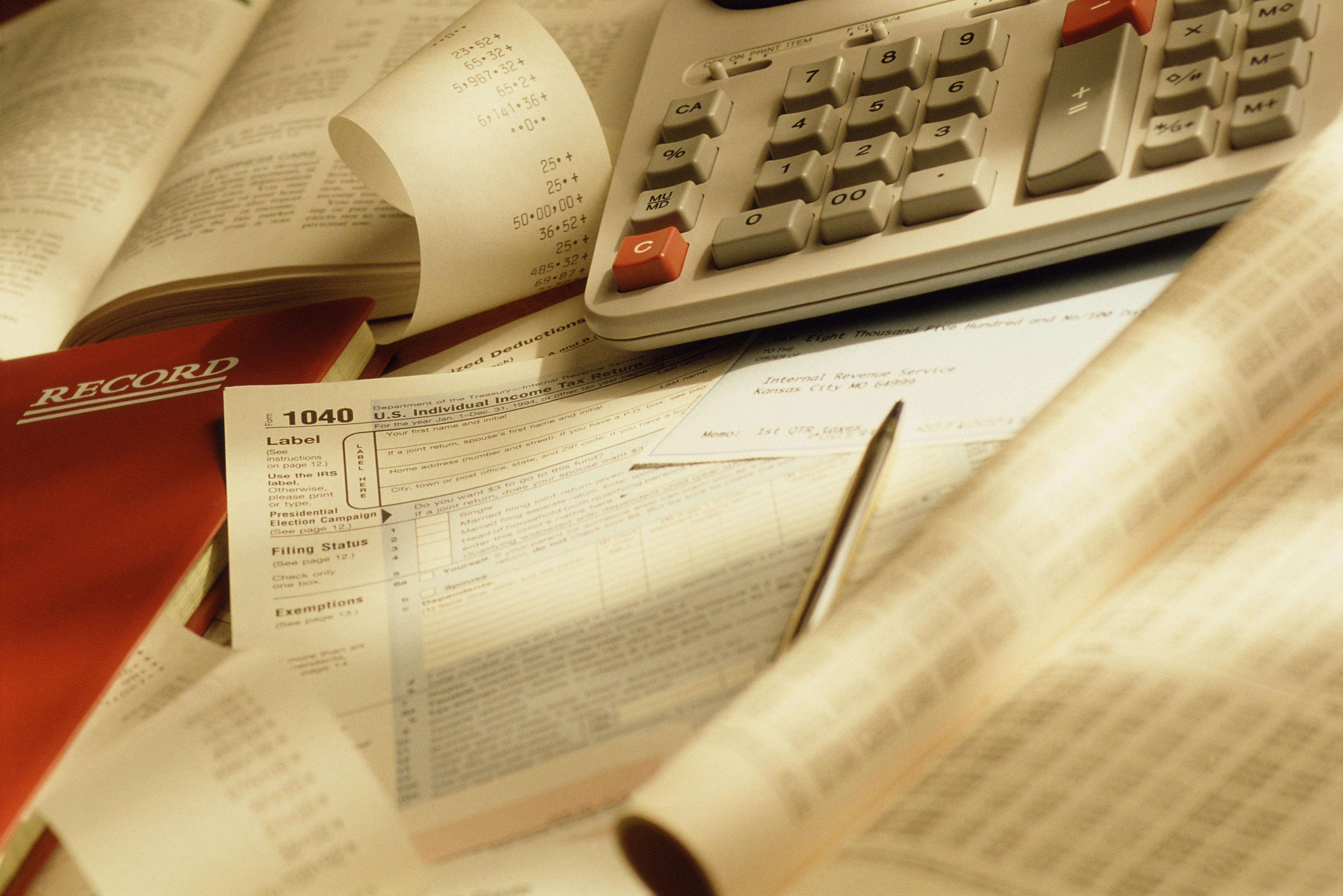 Tax forms and calculator