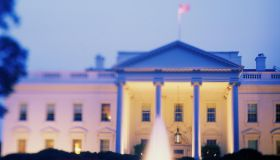 USA, Washington D.C., White House, Spring, dusk (selective focus)