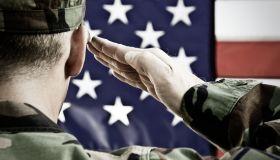 Vintage Military Salute