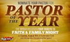 Faith and Family Night - Pastor of the Year
