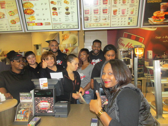 Tom Joyner & The Morning Show at Tim Hortons