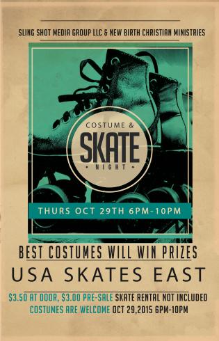 Costume and Skate Night