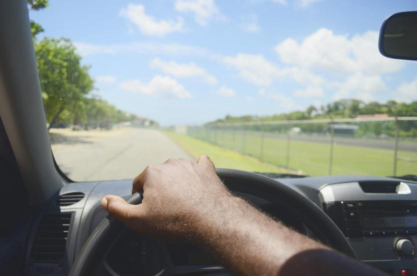 driving on the road