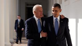 President Joe Biden and President Obama