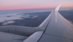 Sunset from a plane