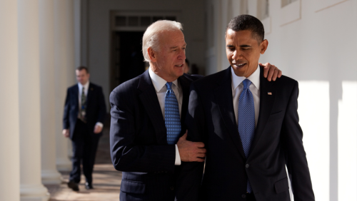 President Joe Biden and President Obama
