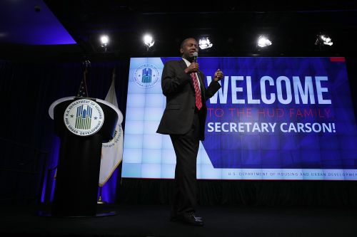 Ben Carson Addresses Housing And Urban Development Department Employees
