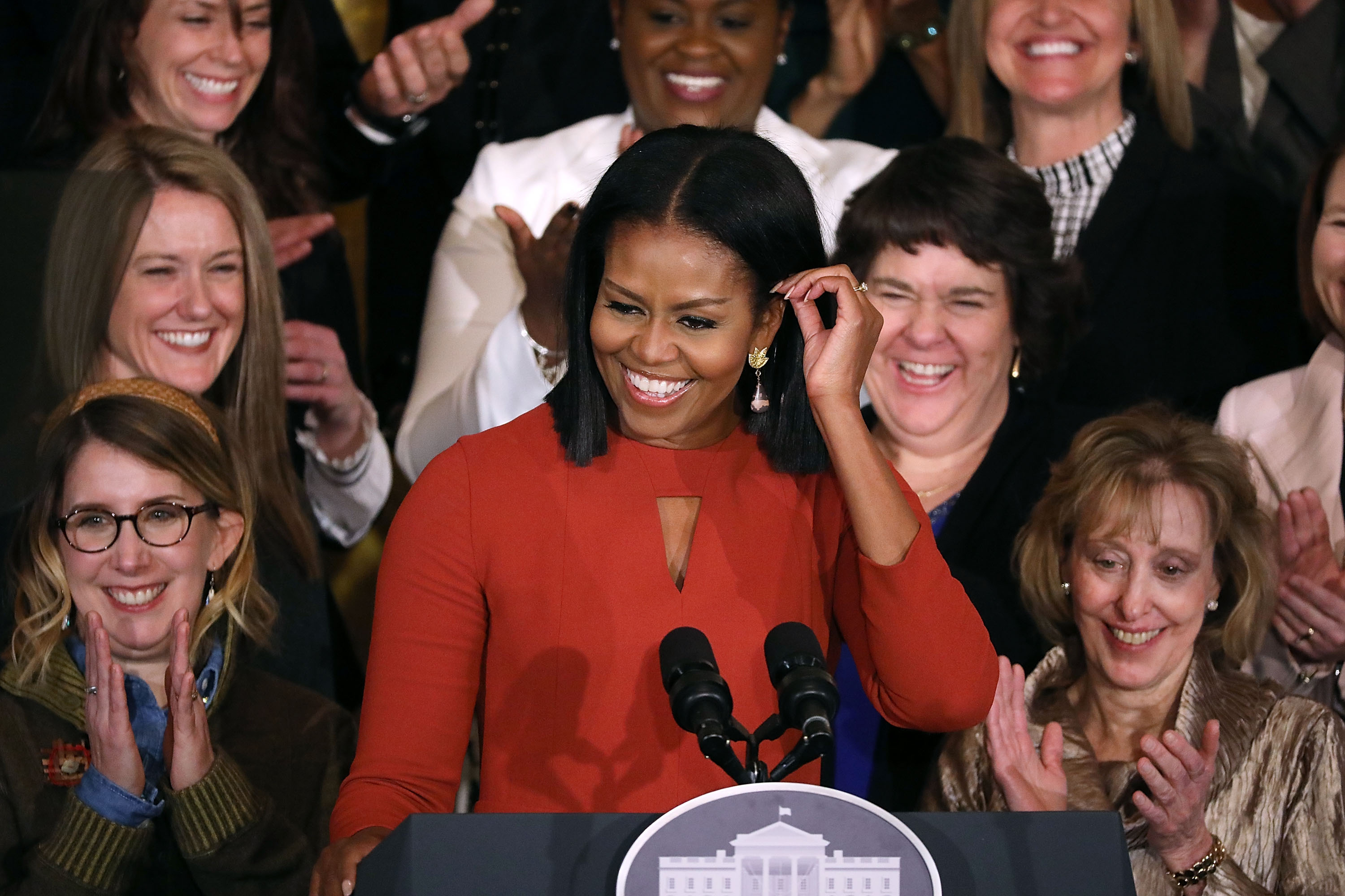 Michelle Obama Delivers Final Speech At The White House