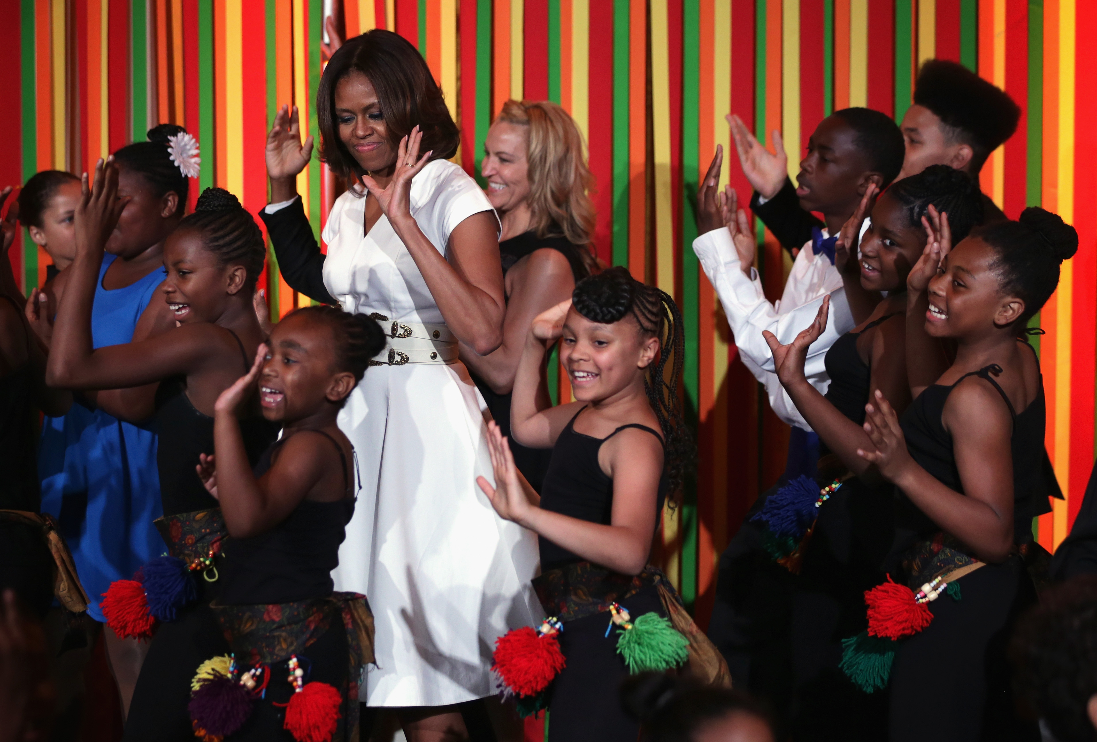 First Lady Michelle Obama Hosts Talent Show At White House
