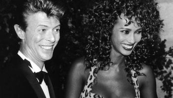 David Bowie And Iman In Paris 1991