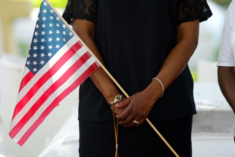Memorial Day Ceremony In Coconut Grove, Florida.
