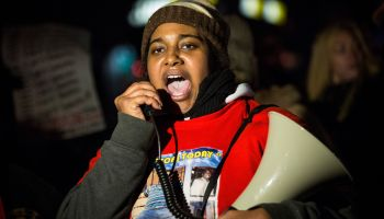 Daughter Of Eric Garner Leads Protest March In Staten Island