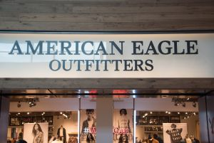 American Eagle Outfitters store front and entrance. American...