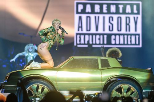 Miley Cyrus performs at the Verizon center in Washington, D.C.