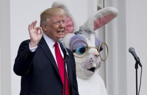 US-POLITICS-TRUMP-EASTER EGG ROLL
