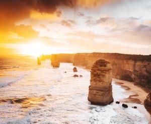 twelve apostles view at dusk