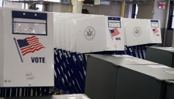 Polling Machines Are Prepared For Tuesday's Presidential Election