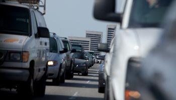 Grid locked highway Los Angeles