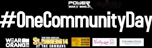 one community day header logo