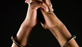 Handcuffed hands