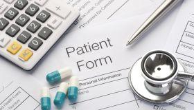 Close up of a patient form