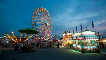 Amusement park rides at the Maryland State Fair, Timonium MD
