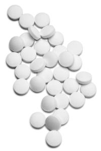 Selection of white medication tablets