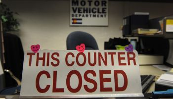 (KL) Many counters have been closed at the Department of Motor Vehicles because of the budget crunch. El Paso county has been hit hard by the TABOR tax and the economy. The story is about the crippling financial problems that have disrupted city and count