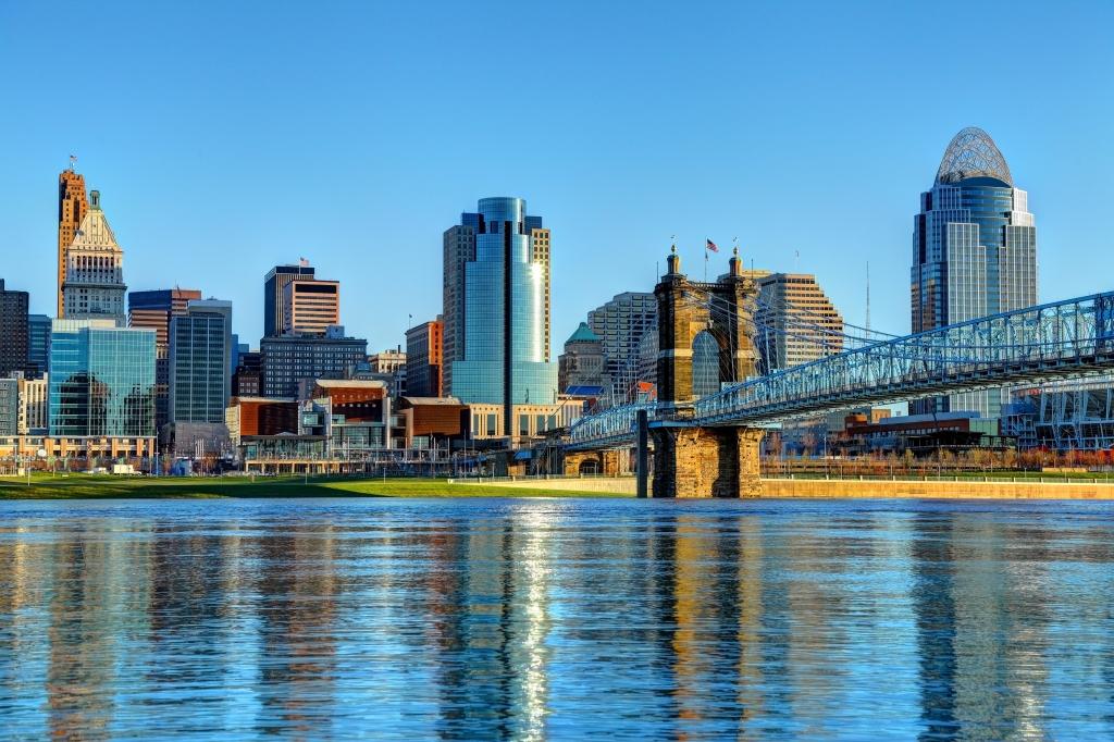 Downtown Cincinnati Ohio Skyline
