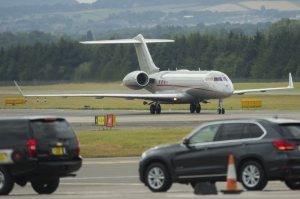 Former First Lady arrives in Edinburgh