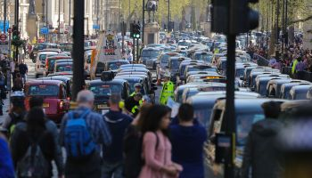 United Cabbies Group Protest in Whitehall