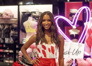 Victoria's Secret Angels Jasmine Tookes and Romee Strijd celebrate Valentine's Day