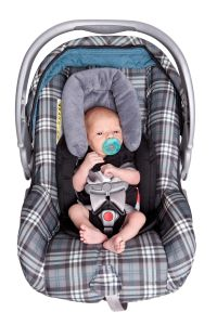 Isolated Newborn Baby In Car Seat