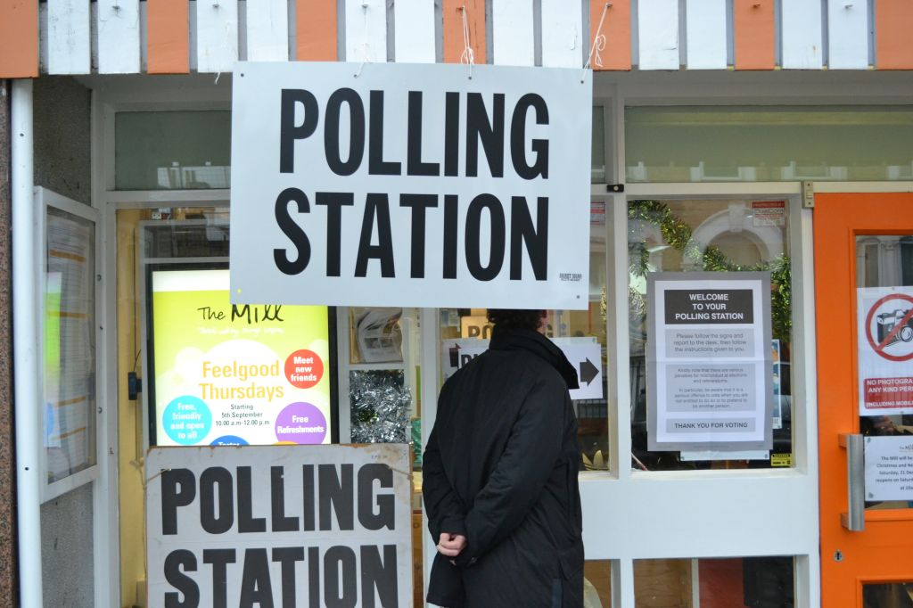 Polling Station in Walthamstow, London