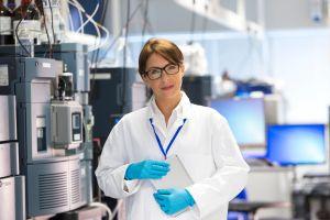 Professionals Female in Lab with Specialist Scientific Equipment