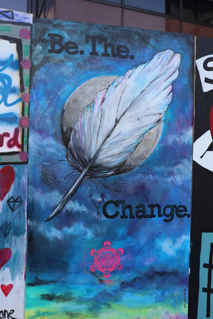 Columbus Protest Art for George Floyd and Black Lives Matter