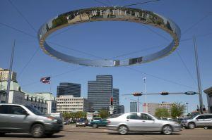 USA, Texas, Houston, Wesrtheimer, ring above traffic