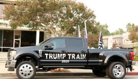 A trump supporter's vehicle on Ventura Boulevard, Woodland Hills, Los Angeles